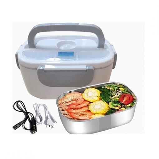 Lunch Box Chauffante Gris 3en1